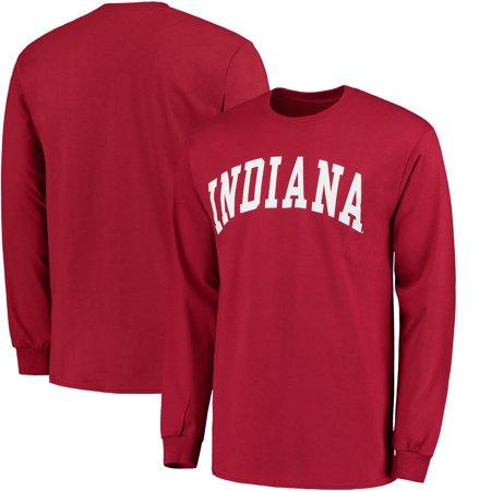 Indiana Hoosiers Basic Arch Long Sleeve T-Shirt - Crimson