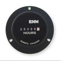 ENM T50B4 AC Hour Meter II,6-Digit,2.8 in,3-Hole