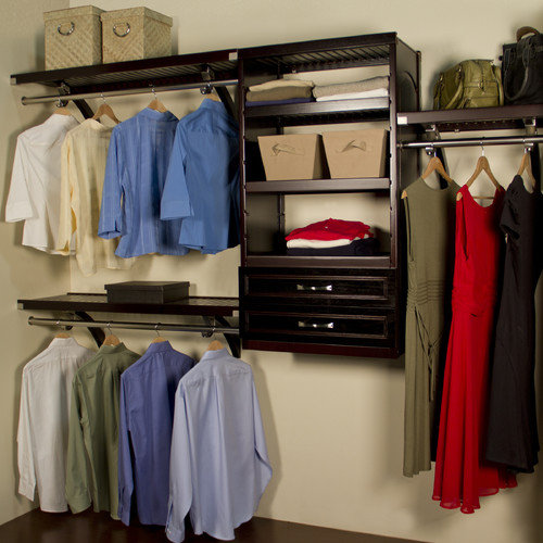 John Louis Home 16'' Deep Woodcrest Closet Organizer Set