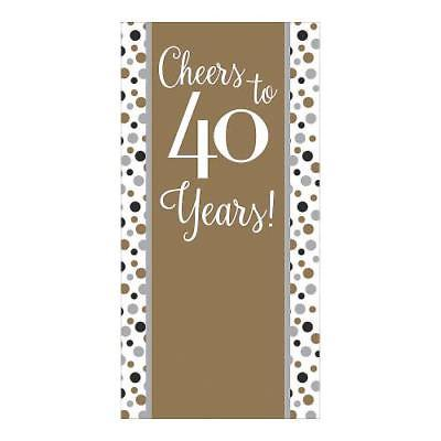 IN-13784959 Cheers to 40 Years Backdrop Banner 1 Piece(s) - Cheers Banner