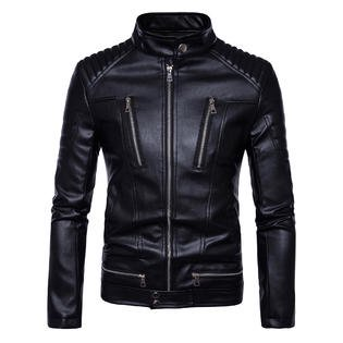 Men Winter Long Sleeve Warm Leather Jacket (Unicorn Men Leather Jacket)