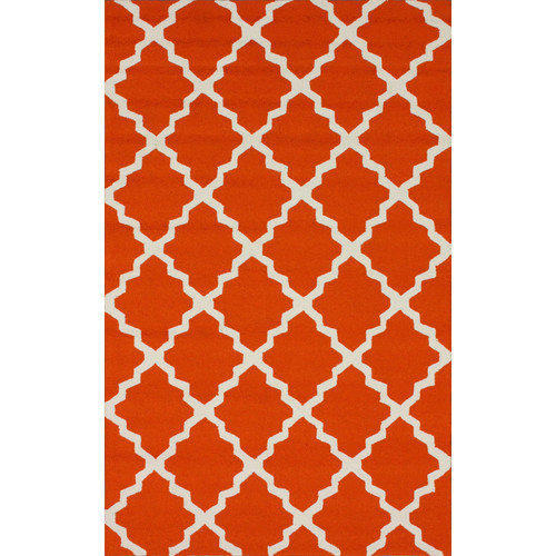 nuLOOM Homestead Orange Lannah Trellis Geometric Area Rug