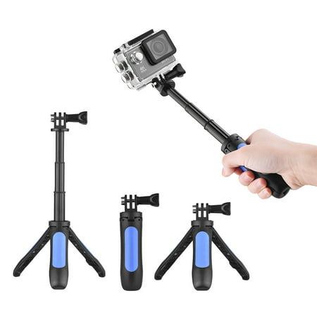 Mini Extension Selfie Stick Tripod Stand Hand Grip for GoPro Hero 3/5/4/3+3 for Yi Lite/4k/4k+ for SJCAM/Andoer/AKASO Sports Action Camera ()
