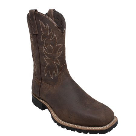 Men s 12 Steel Toe Work Western Brown