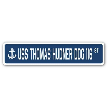 USS Thomas Hudner Ddg 116 Street 3 Pack of Vinyl Decal Stickers