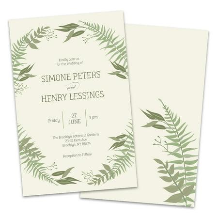 Green Wedding Invitations (Personalized Green Botanical Wedding)