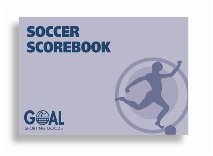 Coaches 24-Match Soccer Scorebook w Season Stats Charts by Goal Sporting Goods