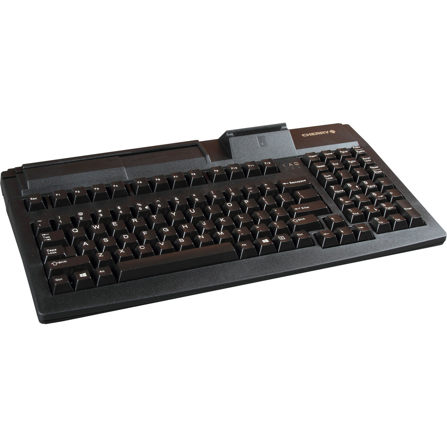 "Cherry 16"" USB keyboard with 3 Track Magnetic Stripe Reader"