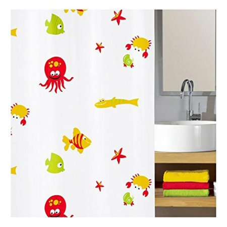 Kids Bathroom Bounty PVC Free Shower Curtain