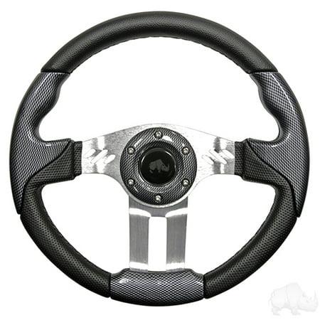 Golf Cart Aviator 5 Carbon Fiber Grip/Brushed Steering (Aviator Carbon Fiber)