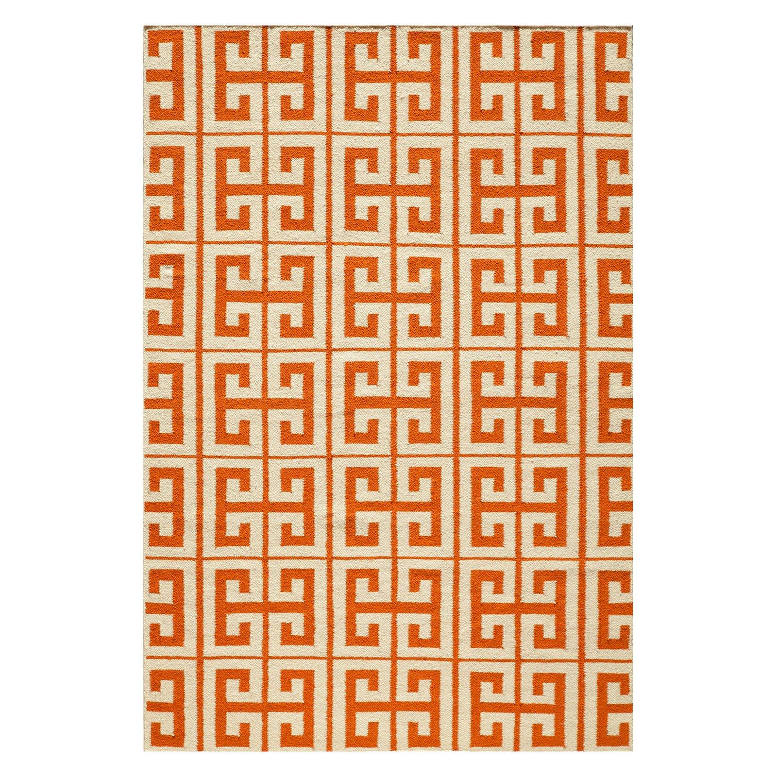 Momeni Laguna Orange Geometric Rug