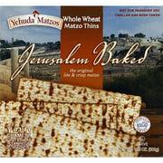 (Pack of 6) Yehuda Matzos Jerusalem Baked Whole Wheat Matzo Thins, 10.5 oz
