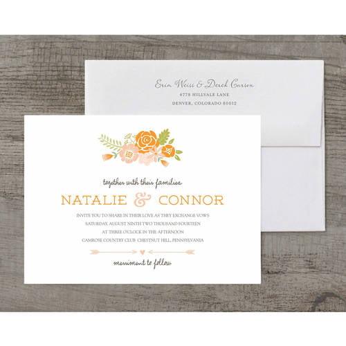Love in Bloom Deluxe Wedding Invitation