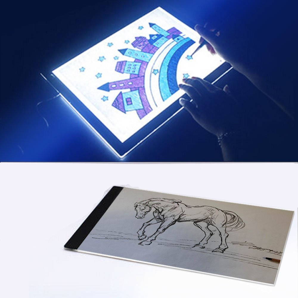 Ultra Thin Portable A4 Led Super Bright Animation Drawing Tracing Board Light Table Light Box Tattoo Tracing Board Walmart Com Walmart Com