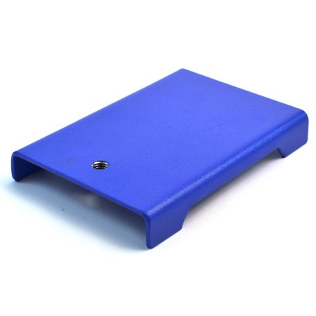 "6""(15cm) X 4.25""(11cm) Small Economy Retort Base, Stamped Steel, Powder Coated, Tapped Hole Recieves 10 X 1.5mm Threaded Rod"