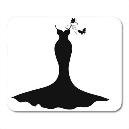 KDAGR Silhouette Wedding Dress Couture Designer Model Vintage Butterfly Mousepad Mouse Pad Mouse Mat 9x10