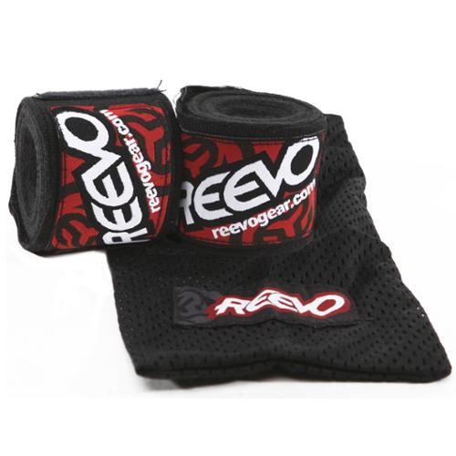 "Reevo Stretch Handwraps with Mesh Carry Bag - 136"" - Black"