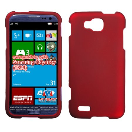 For T899 Odyssey Titanium Solid Red Hard Snap On Phone Protector Cover Case