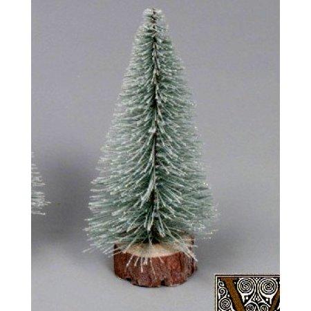Village Christmas Tree Stand.Vickerman Artificial Christmas Tree 6 Flocked Village Tree Wood Stand