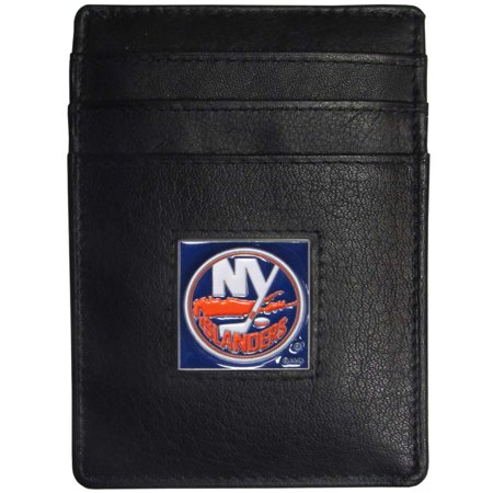 New York Islanders Leather Money Clip/Cardholder Packaged in Gift Box (F)
