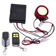 12V Universal Motorcycle Car Security Alarm System 125Db Burglar Alarm Ultra Small Dual Remote Control Anti-Theft Device