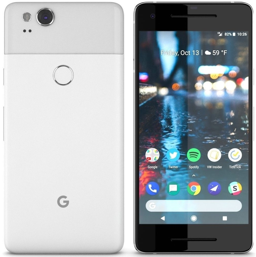 Google Pixel 2 Clearly White 64GB - Fully Unlocked (Certified Refurbished)