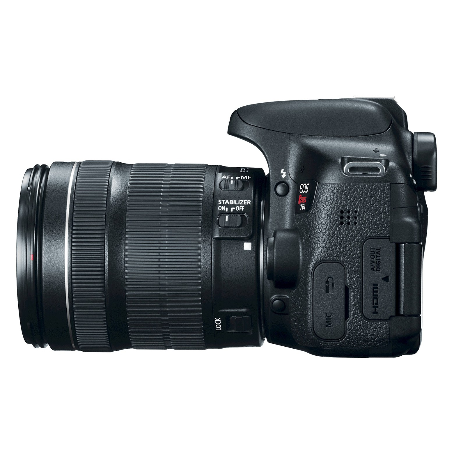Canon Eos Rebel T6i Dslr Camera With 18 55mm Lens 750d Kit Ef S18 Is Stm Eos750d 750 D