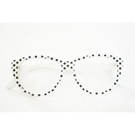My Brittany's WHITE POLKA DOT GLASSES FOR AMERICAN GIRL DOLLS - Polka Dot Glasses