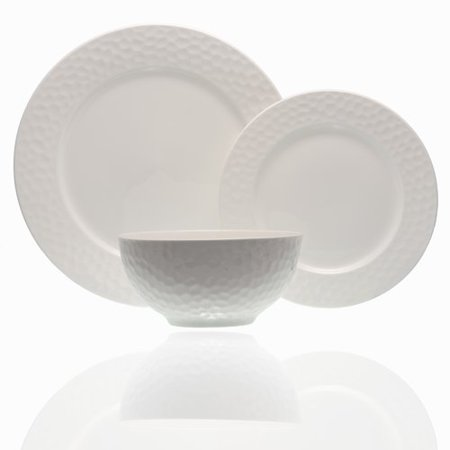 Beach Themed Dinnerware (Red Vanilla Pebble Beach 18 Piece Bone China Dinnerware Set, Service for)