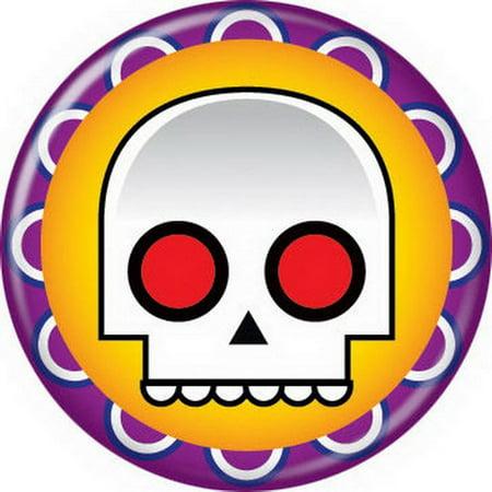 Halloween Skull Purple Button 82094 - Button Mash Halloween