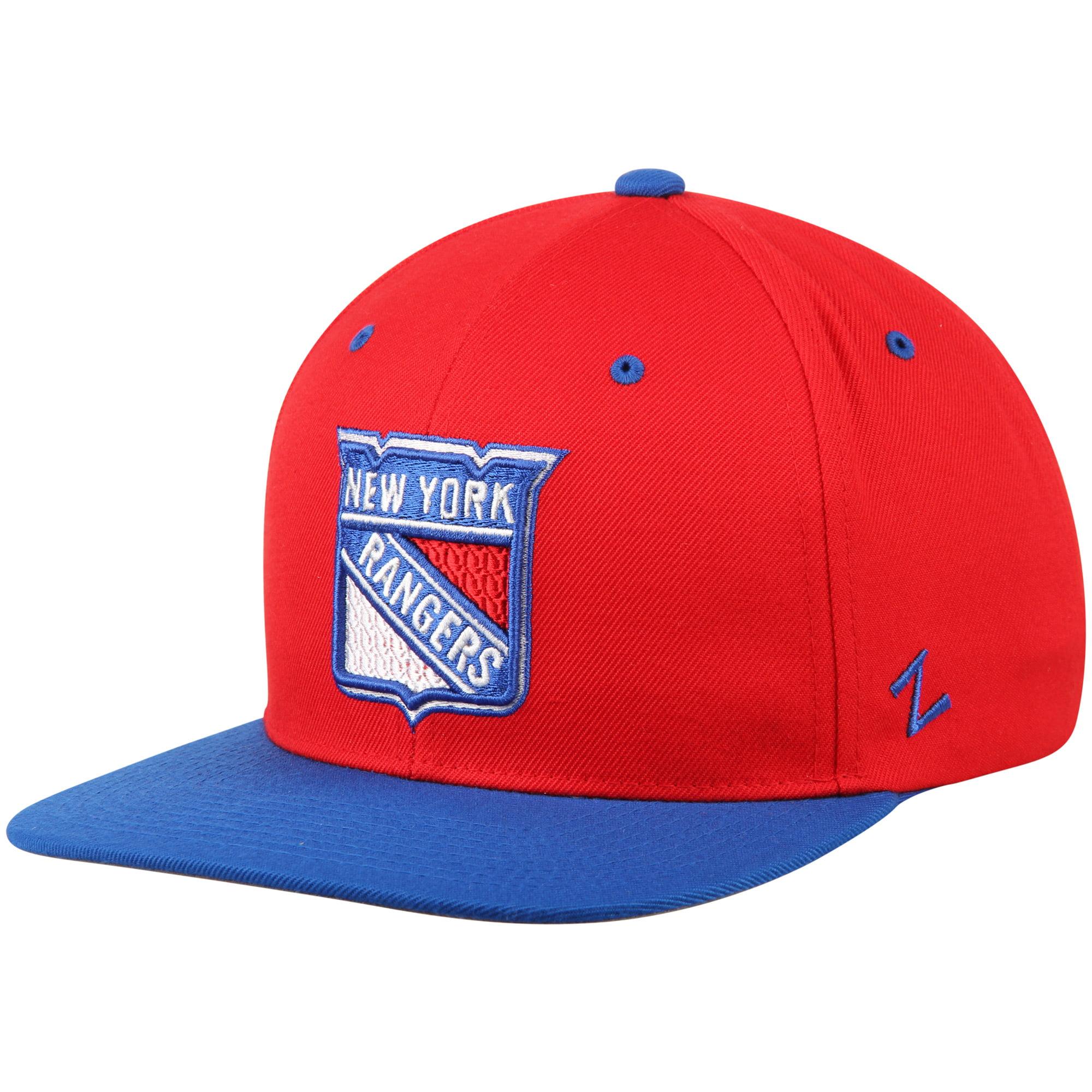 New York Rangers Zephyr Z11 Snapback Adjustable Hat - Red/Blue - OSFA