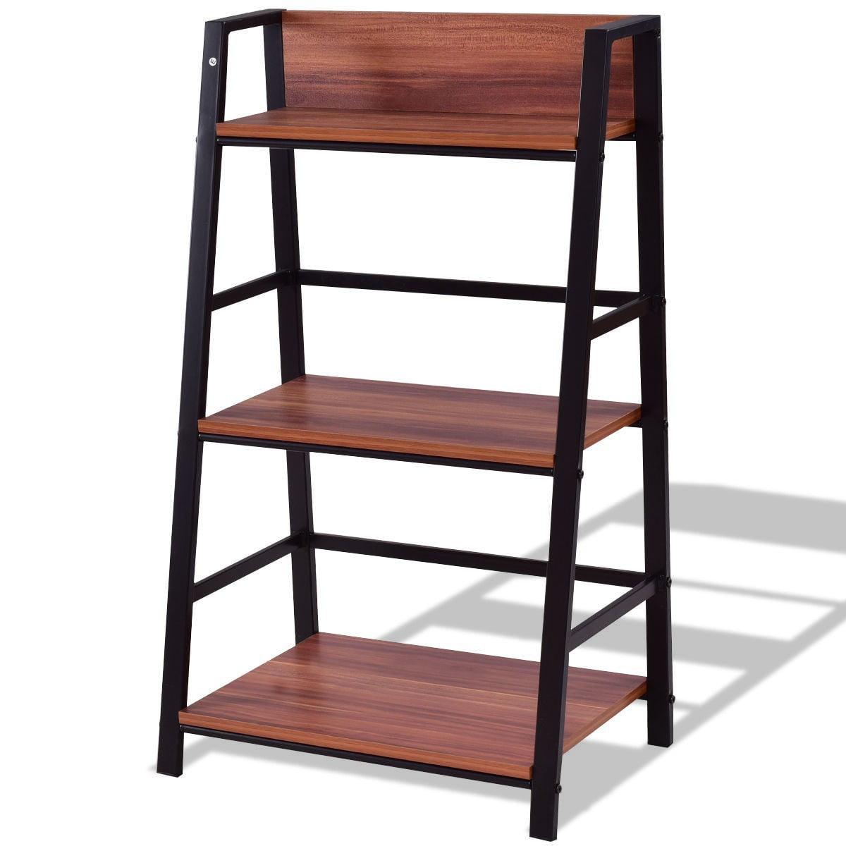 3-Tier Modern Ladder Bookshelf