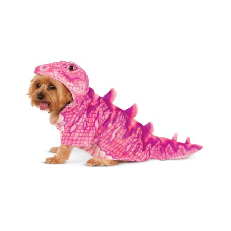 Pink Dinosaur T-Rex Pet Dog Cat Halloween Costume Hoodie - Holloween Dog Costumes