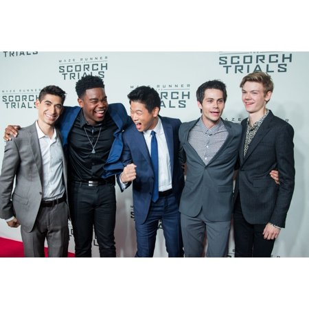 Alex Flores Dexter Darden Hi Kong Lee Dylan OBrien Thomas Brodie-Sangster At Arrivals For Maze Runner The Scorch Trials Premiere Regal Cinemas E-Walk New York Ny September 15 2015 Photo By Abel Fermin ()