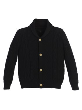 Gioberti Boy's 100% Cotton Knitted Shawl Collar Cardigan Sweater
