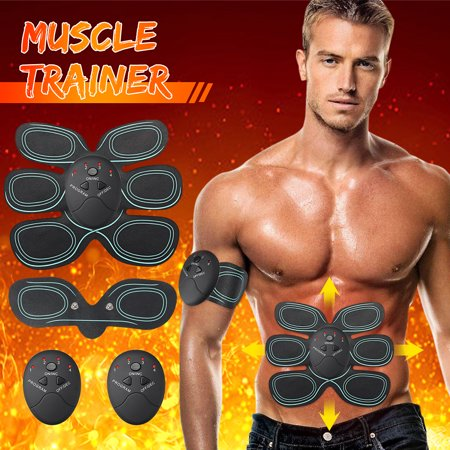 (Multi-Choices) Muscle Trainer Remote Control Abdominal Muscle Trainer Smart Abs Stimulator Body Building Fitness Equipment For Abdomen/Arm/Leg/Hip Training,For