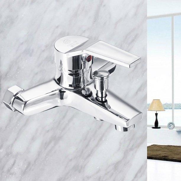 Hot Cold Water Bathroom Faucets Bathroom Sink Faucets Single Handle Waterfall Bath Sink Faucet Walmart Com Walmart Com