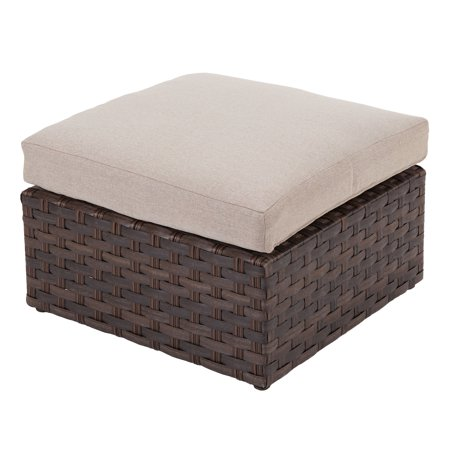 Better Homes & Gardens Harbor City 2-Piece Patio Ottoman Set with Beige Cushions ()