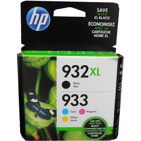 Genuine HP N9H62FN (932XL/933) Black XL and Tri Color Standard Yield Ink Cartridges ()