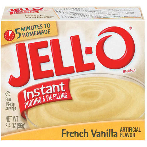 Jell-O French Vanilla Instant Pudding & Pie Filling, 3.4 Oz