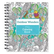 """Spiral-bound Coloring Book 9""""x8.5""""-outdoor Wonders"""