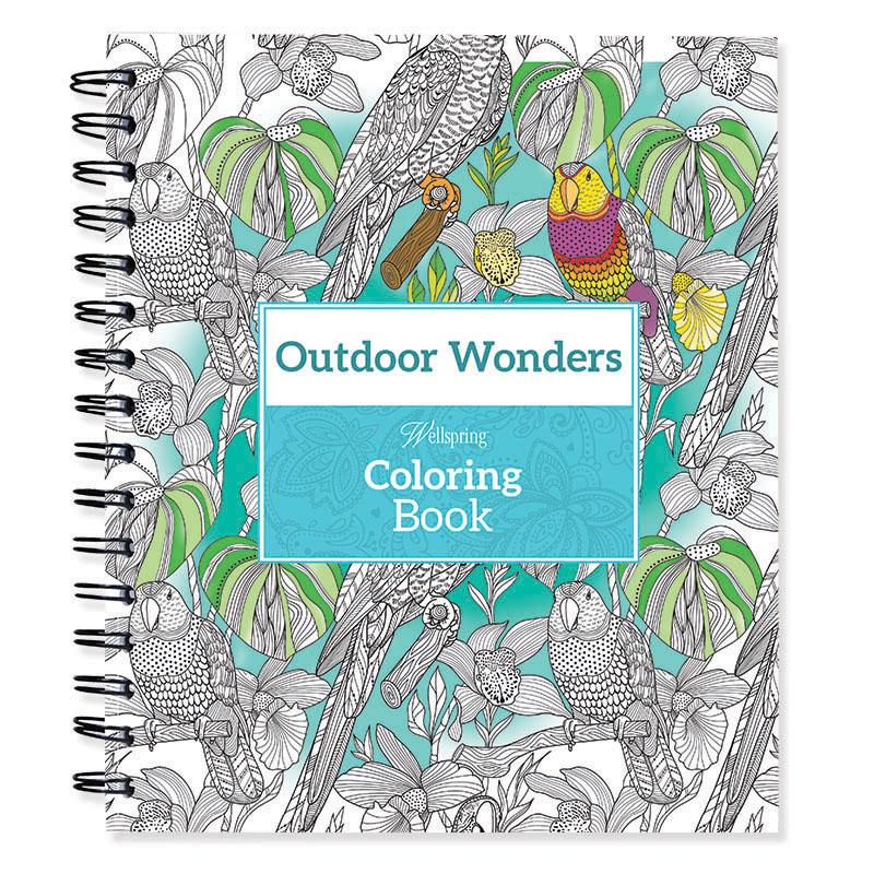 "Spiral-bound Coloring Book 9""x8.5""-outdoor Wonders"