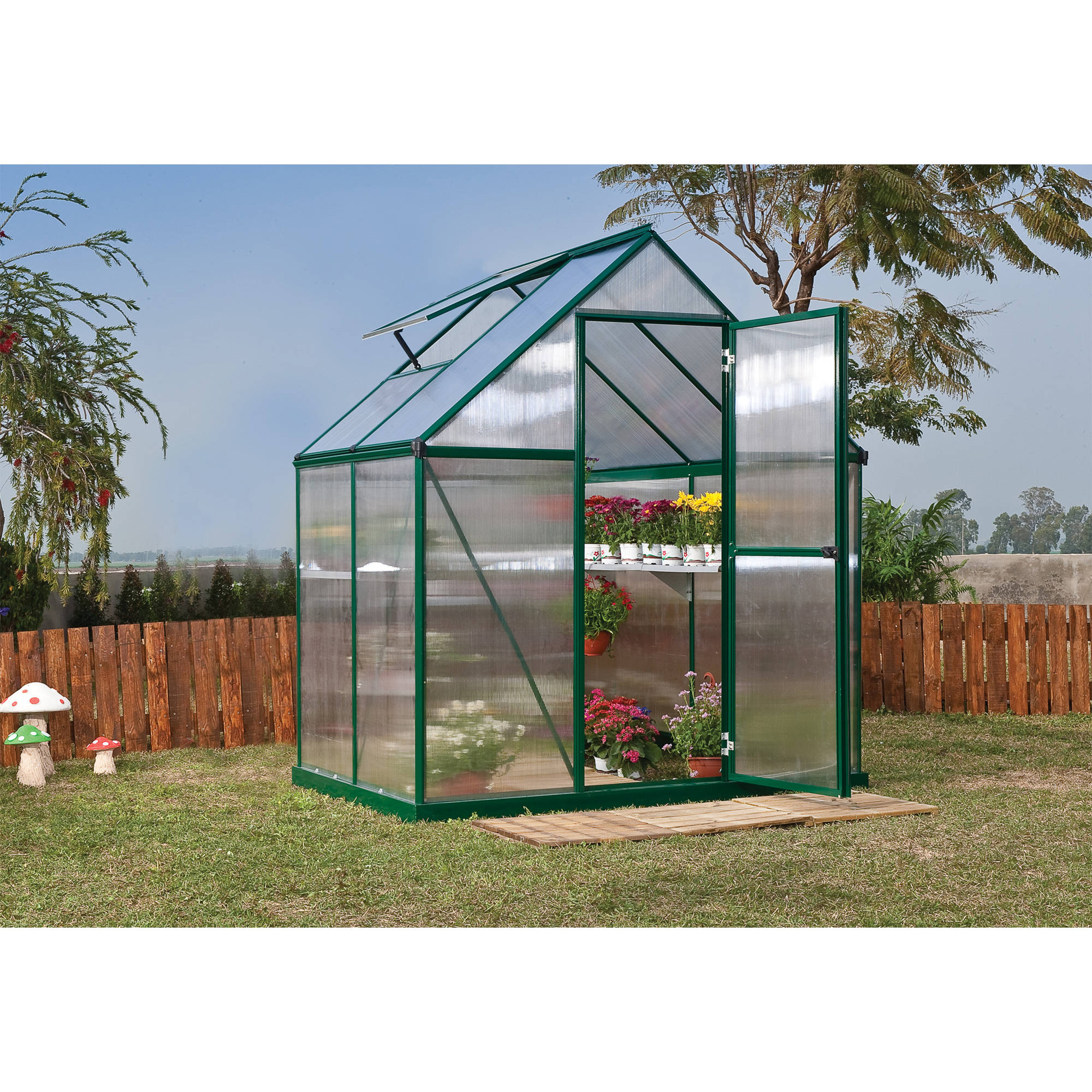 Palram Mythos Greenhouse 6' x 4' Green by Palram
