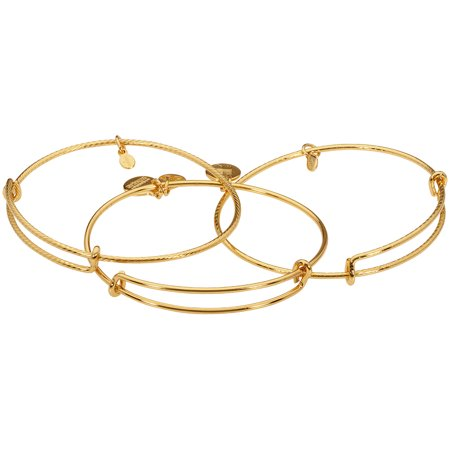 Carolee Set Bracelet - Alex And Ani Set of 3 Yellow Gold Expandable Bangle Bracelet A09EB150YG