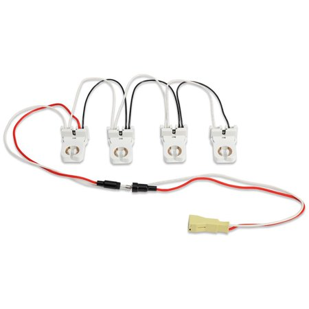 GE 32084 - 4-Lamp Wiring Harness for LED Tubes Includes (4) Pre-Wired Non-Shunted Sockets In-Line Fuse Quick Disconnect (BT8-4L-KIT/NS) (Fuse Disconnect)