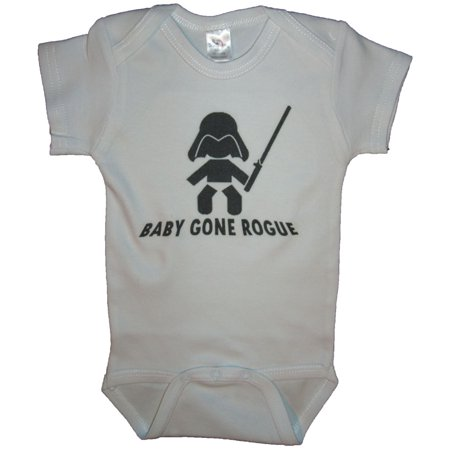 Baby Gone Rogue Funny Baby Romper White Size 3-6 Month