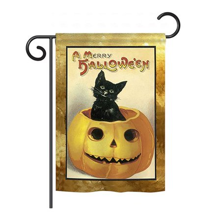 Breeze Decor Merry Halloween 2-Sided Vertical Flag - Merry Halloween