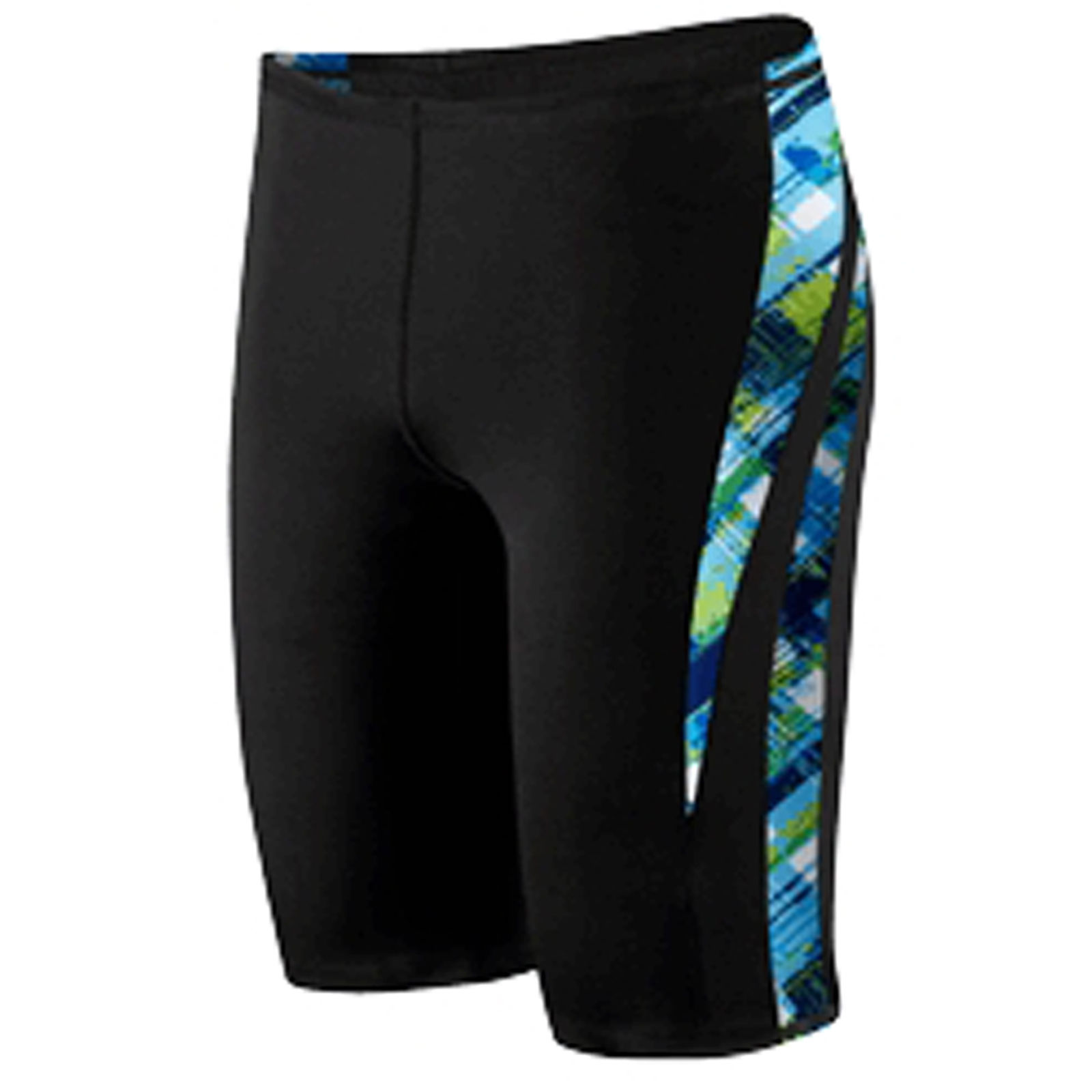 New Speedo Men's Boy's Plaid Spliced Swimsuit Trunk Jammer 8051362
