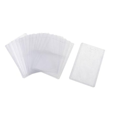 Unique Bargains 20 Pcs Plastic Vertical Name Tag Holders School Office Bank Students Stationery Clear for $<!---->