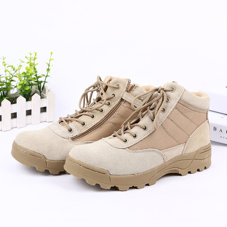 Outdoor Low-cut Hiking Boots Lace-up Sport Men's Shoes For Camping Mountain by